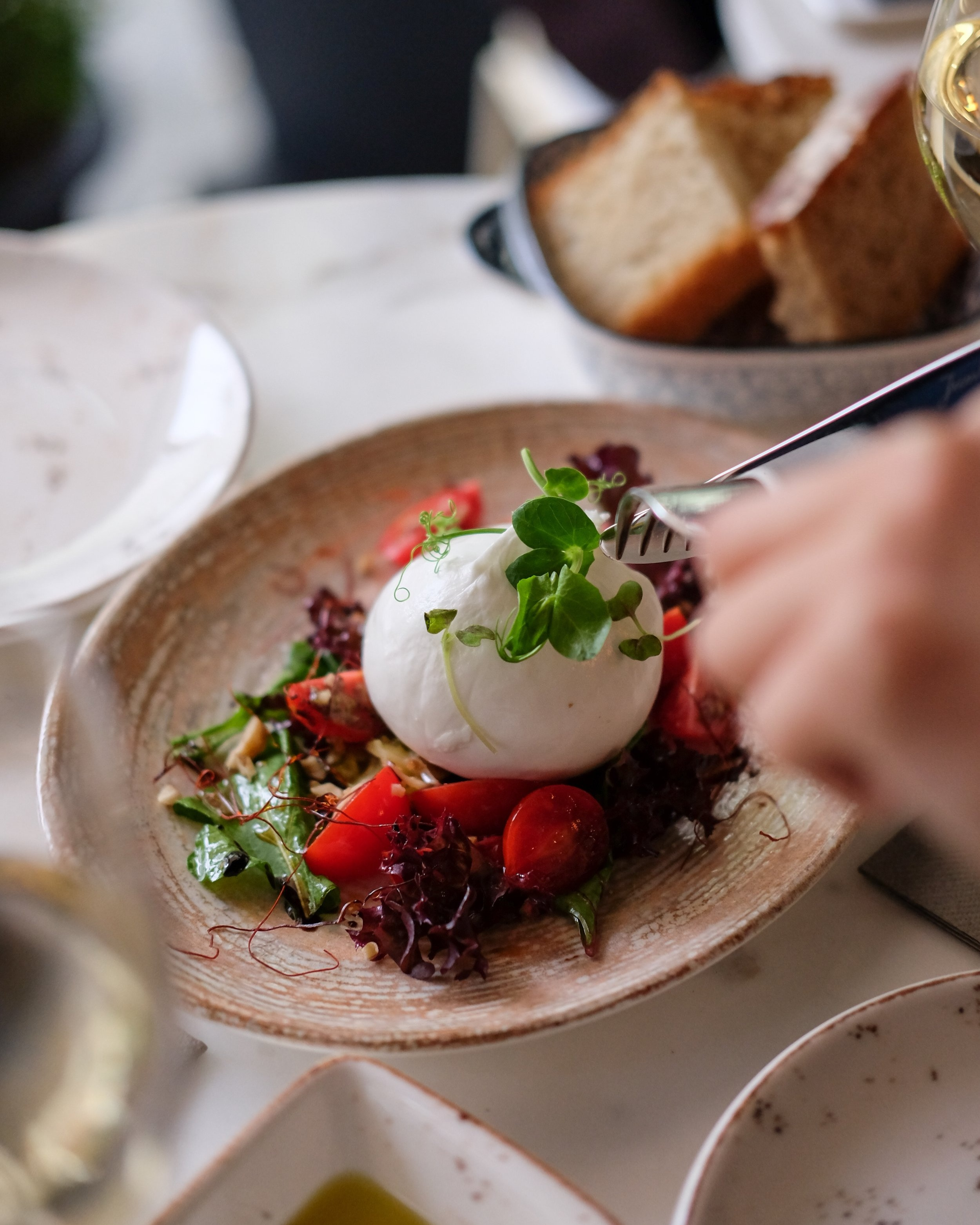 mozzarella&marinated tomatoes -
