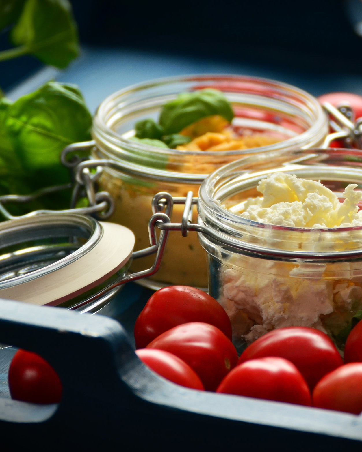 feta&fresh tomatoes -