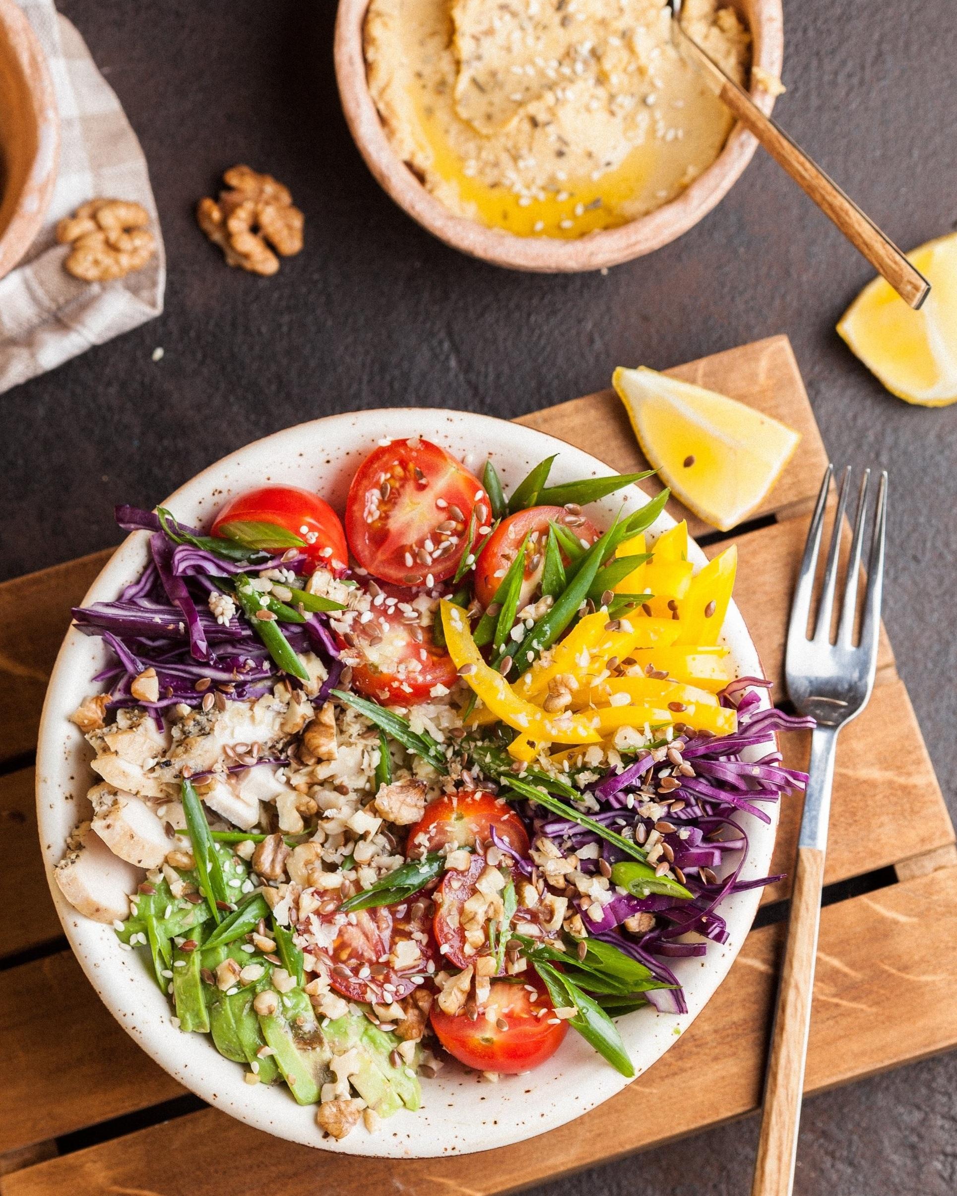 hummus+fresh veggies -