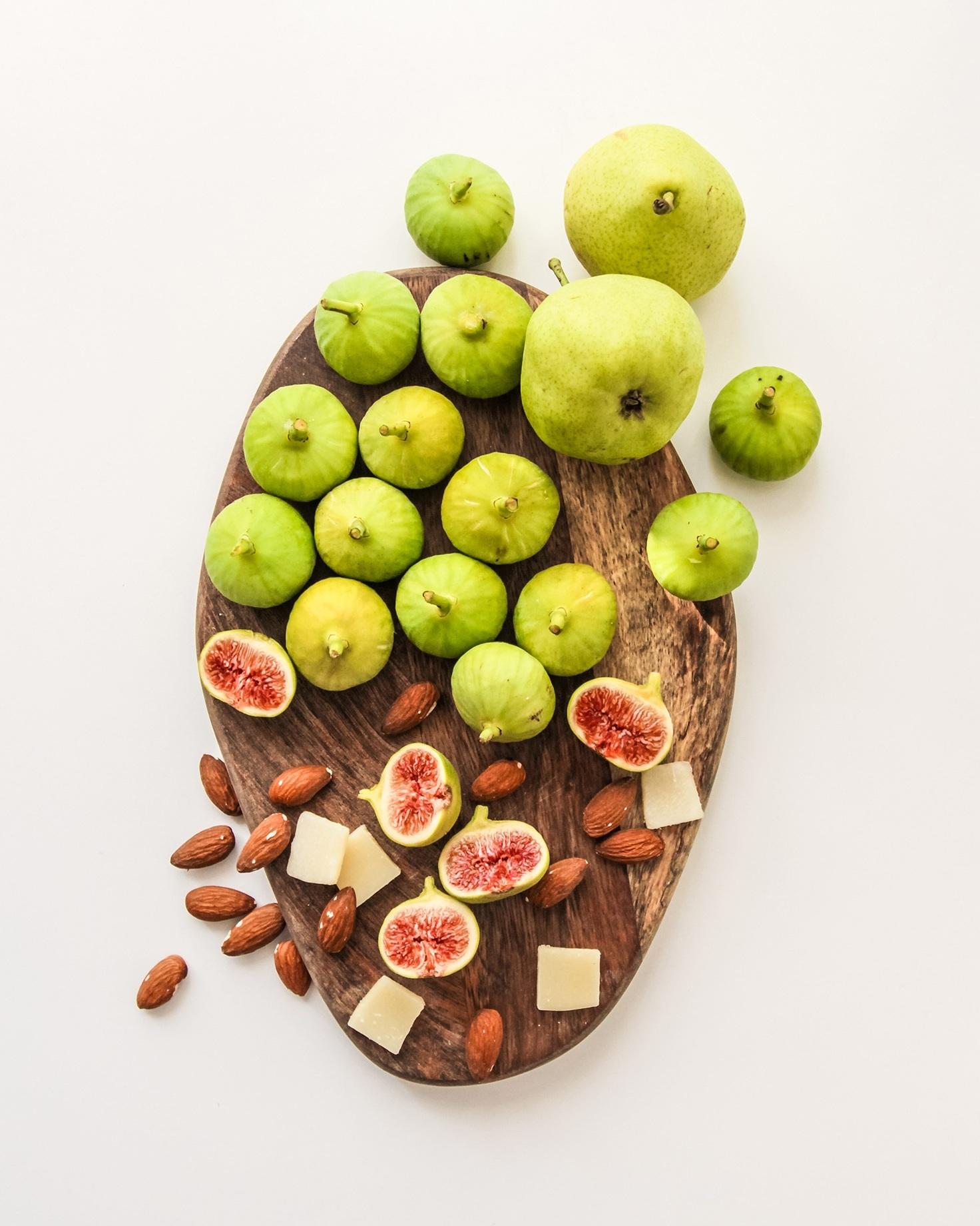 cheddar&fresh fig -