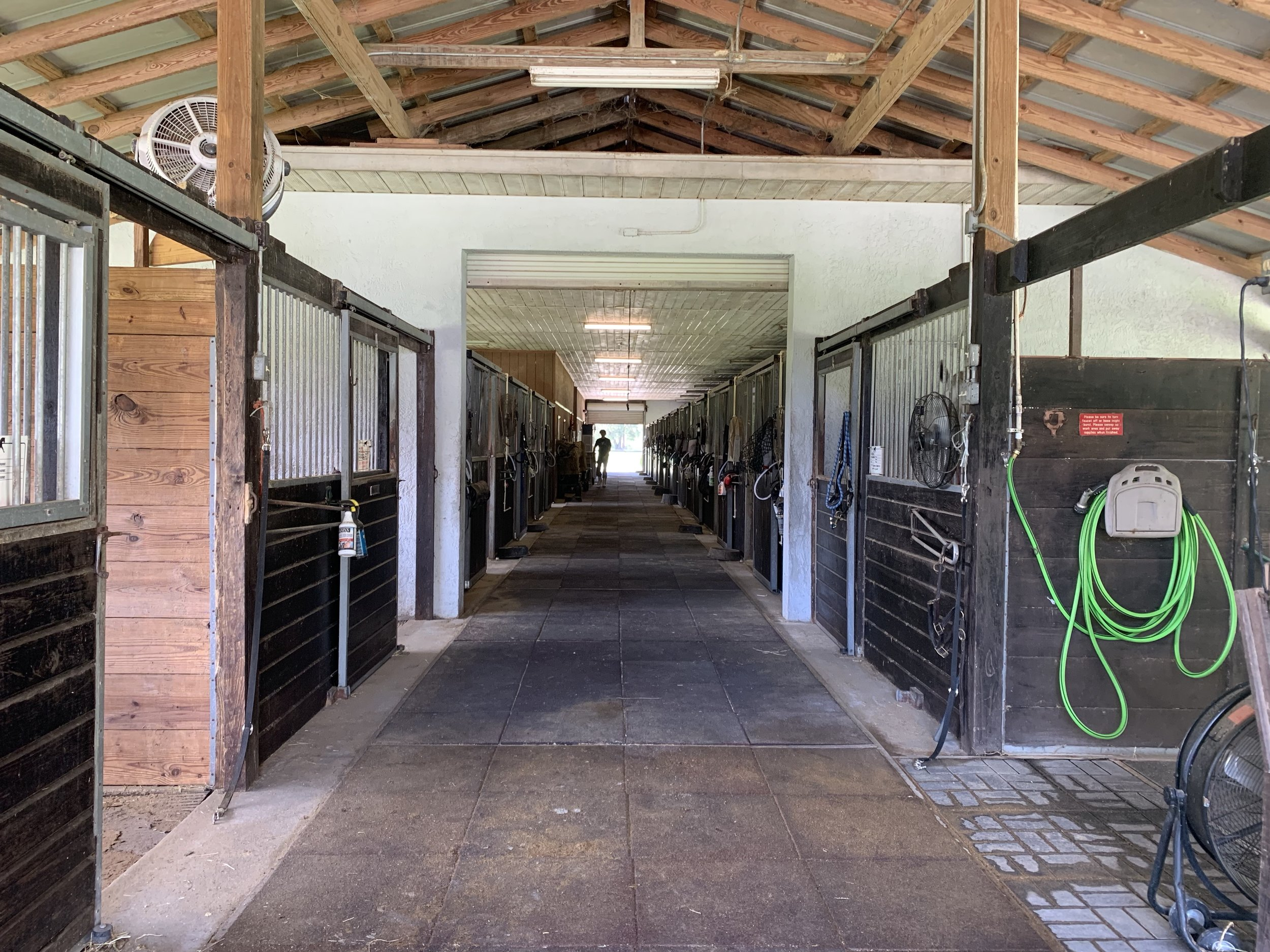 WASH STALLS - We have five indoor wash stalls, three of which have both with hot and cold water. Additionally, we have one large outdoor wash rack with good high pressure for washing off dirty, sweaty horses quickly!