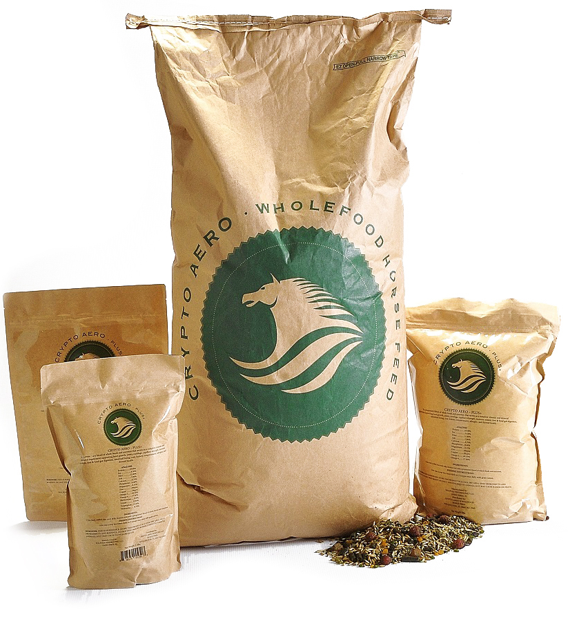 CRYPTO AERO - Visit the Crypto Aero website for complete information about Crypto Aero Horse Feed and their supplements. Crypto Aero Wholefood Horse Feed 50 lb. bag $38.75