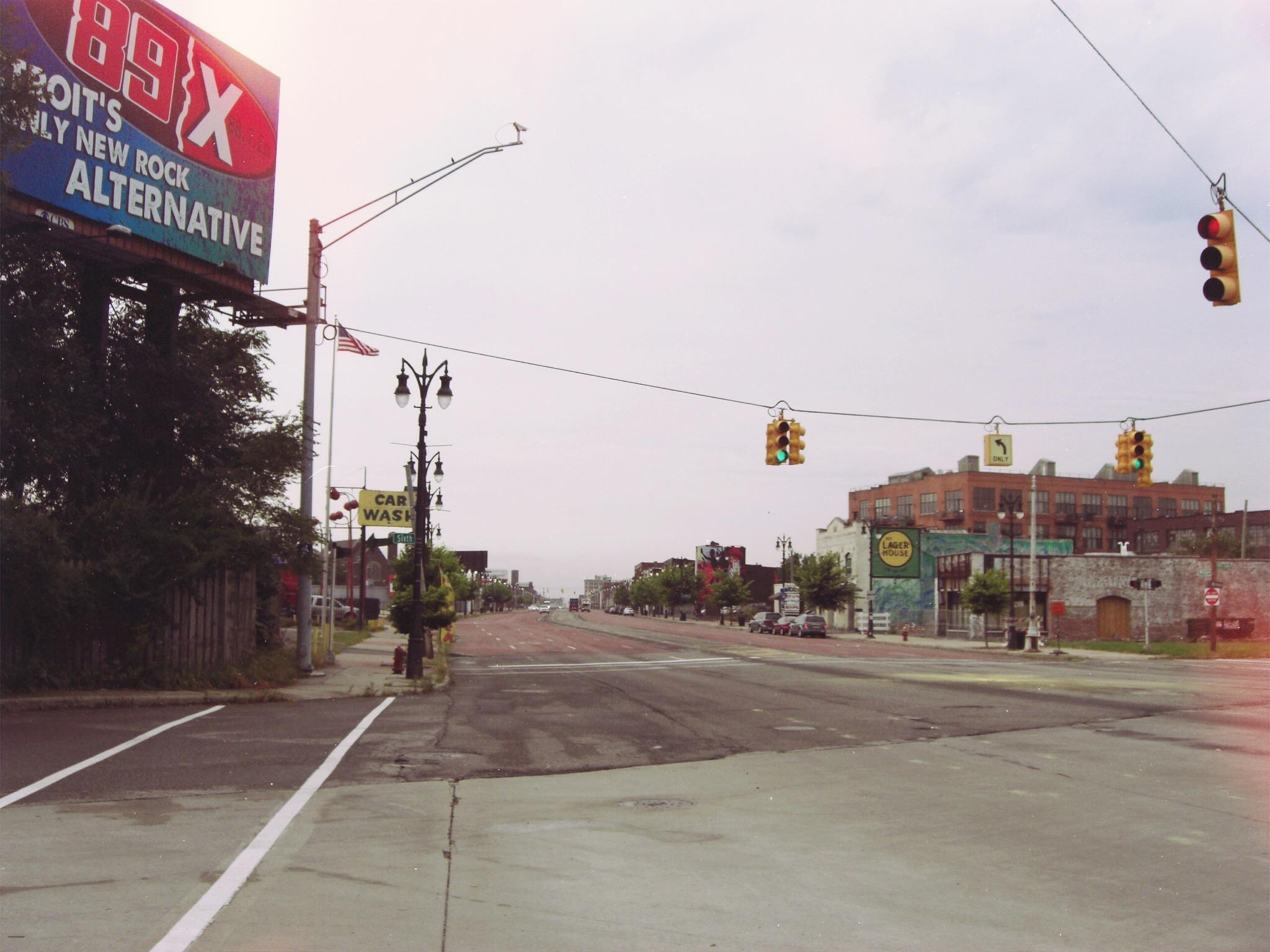 Michigan Avenue during morning rush hour