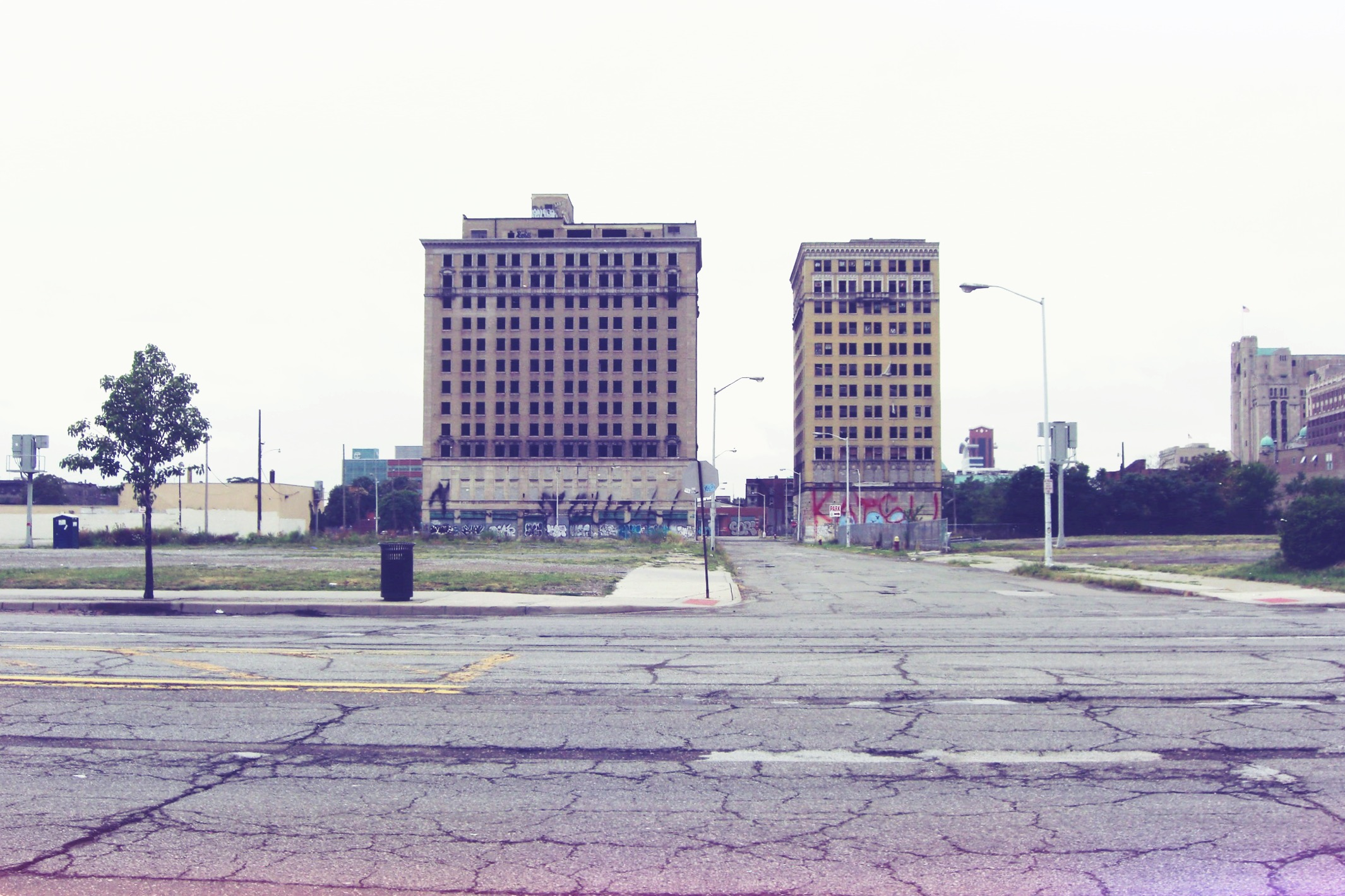 Parts of Midtown remain scarred and desolate.