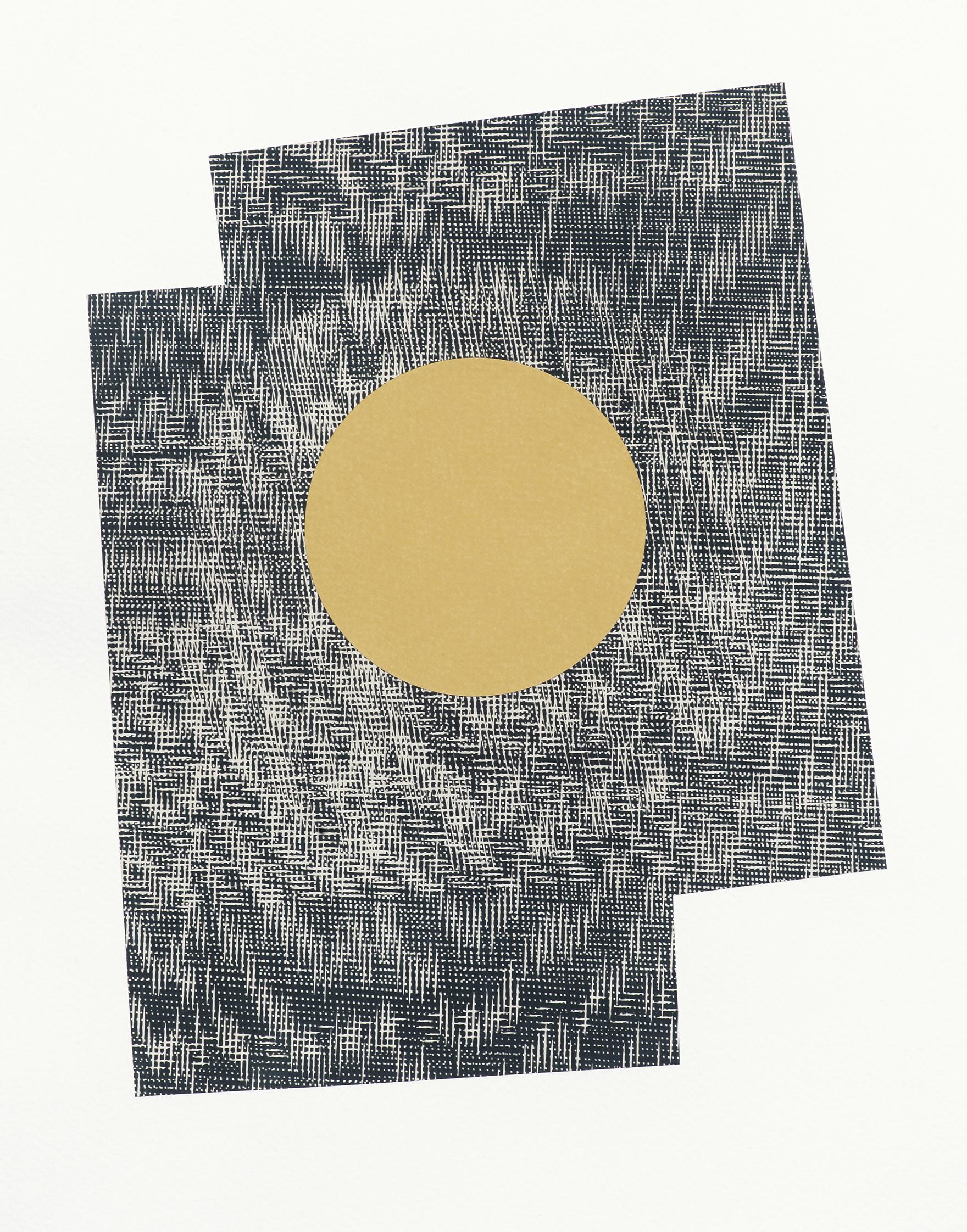 Epicentre - paper collage; 27,4 x 37,7 cm; 2018