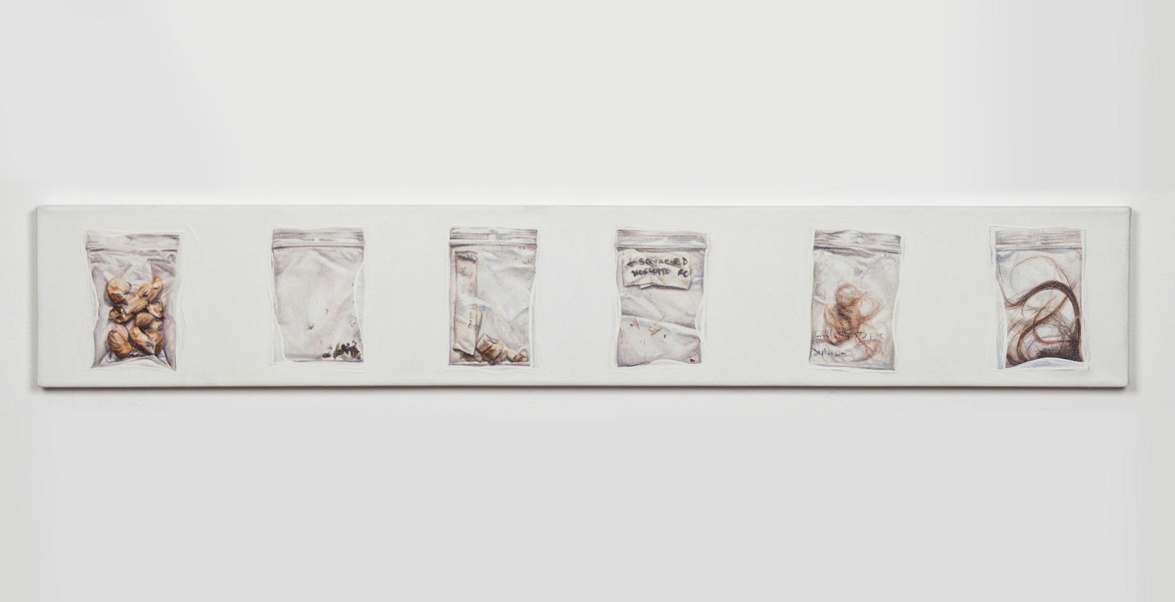 """oil on canvas 36"""" x 6"""" 2016  © Meaghan Barry"""
