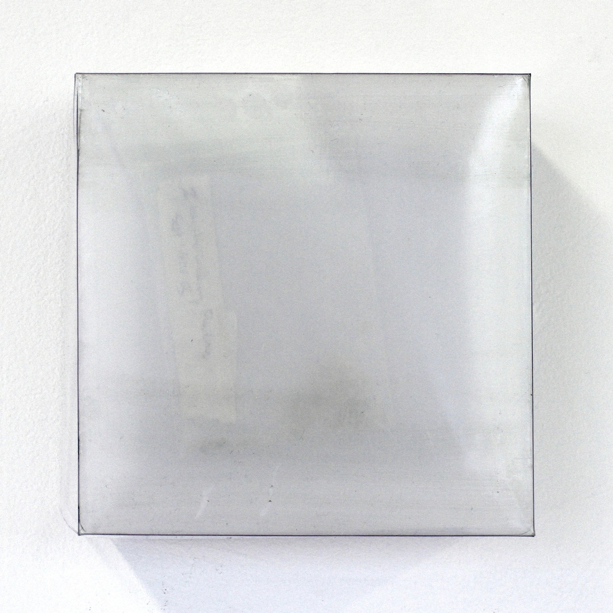 "acrylic sheet, object, oil on board 6"" x 6"" 2015  © Meaghan Barry"
