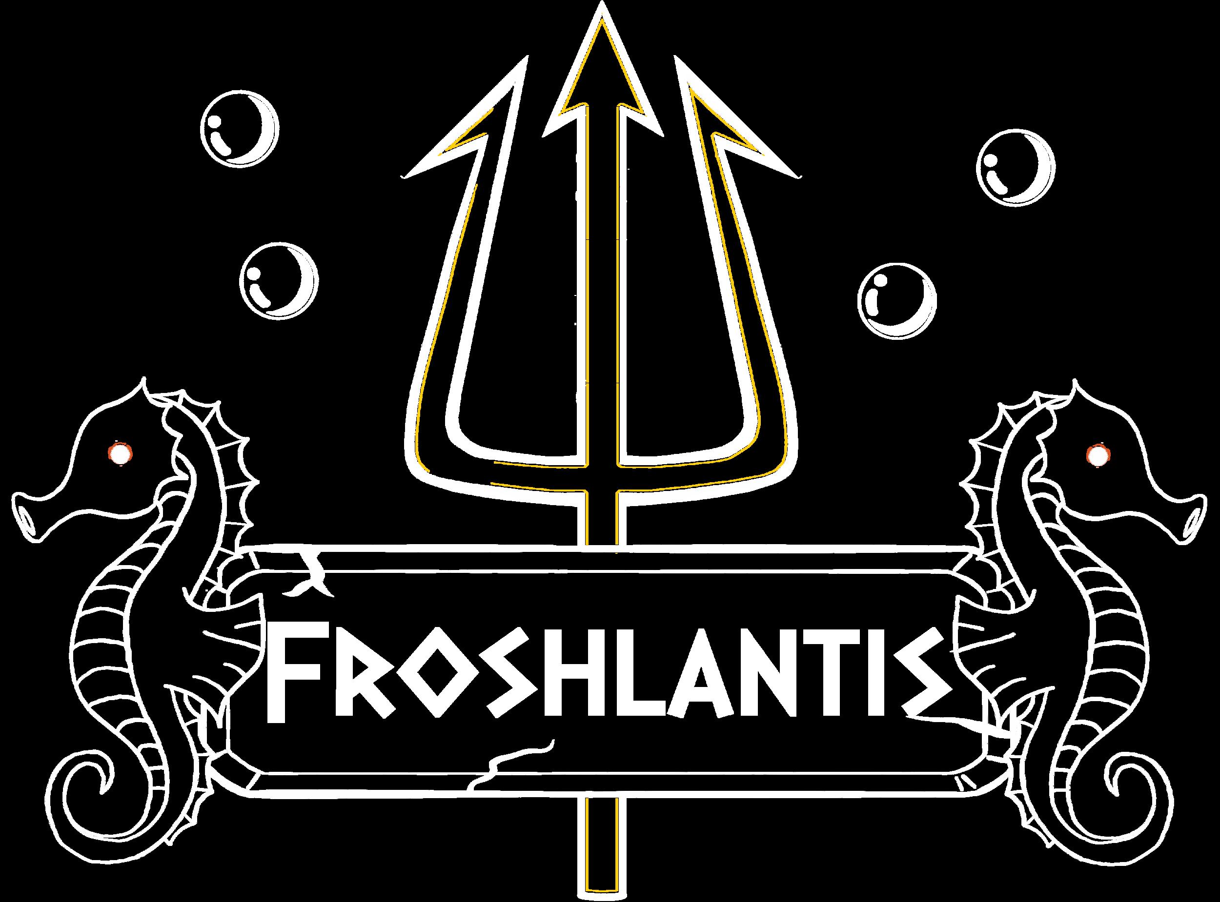 Froshlantis Logo Leader Mono White.png