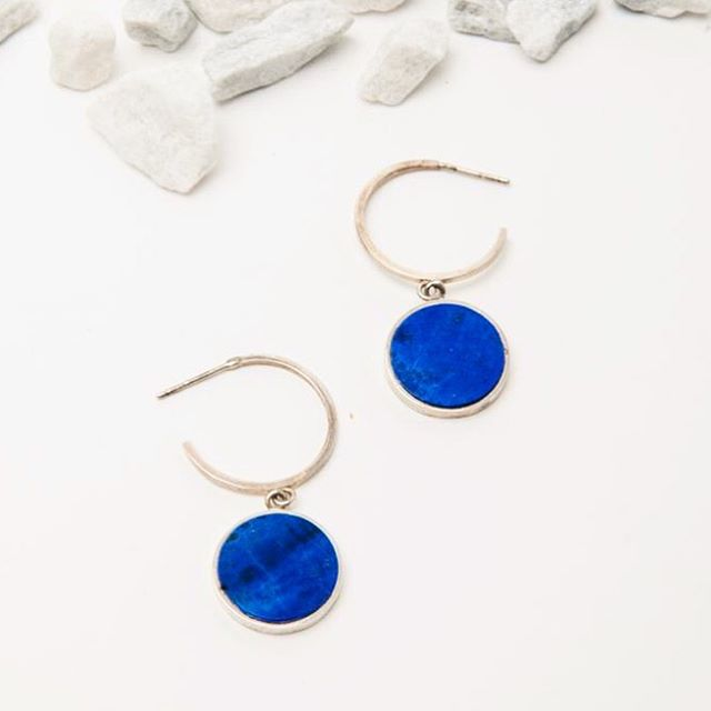 Our Lapis Oculus Hoops available @stevenalan 😍😍😍