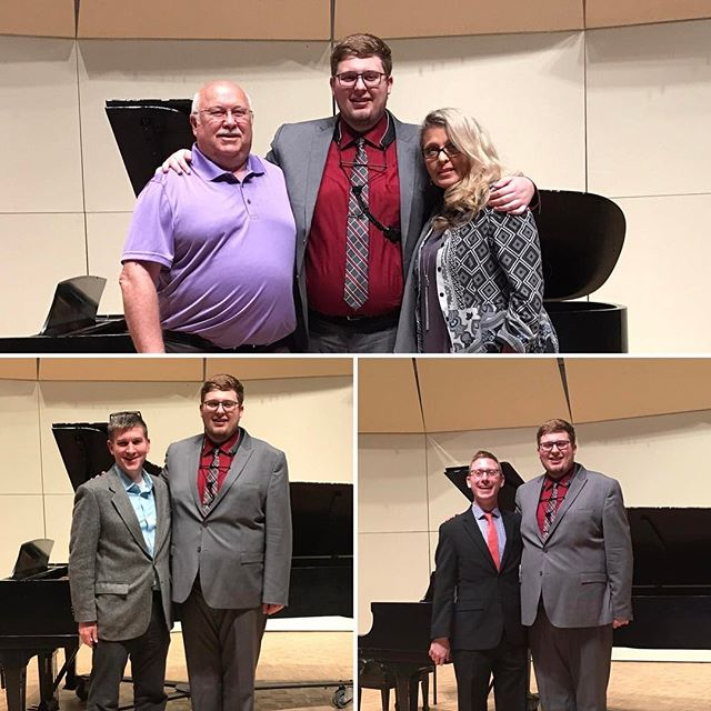 Thanks to all that came out today for my senior recital.  It was a roaring success!  I cannot begin to describe the amount of gratitude that I have for those in my life that have influenced me to become the person and musician I am today.  It was also a great honor to play @dralantheisen fantastic piece.  I don't think I could've asked for anyone better to journey down the road of my first commission with.  You rock dude, and so does your music! Lastly, words cannot express the thanks I have for my professor Ian Jeffress.  You guided me through thick and thin and helped mold me into the musician and person I am today.  I also picked up a lot of new words in the process.  There are no words, just thanks.