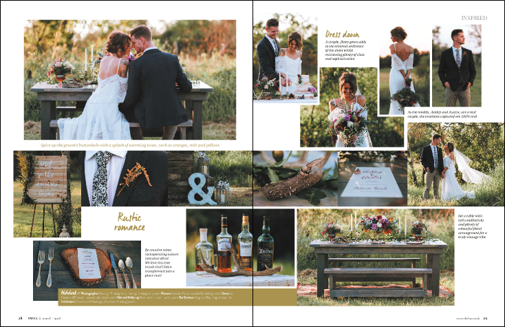 Print Publication: Destination Weddings and Honeymoons Abroad UK Magazine (2017) Rae Leigh Photography