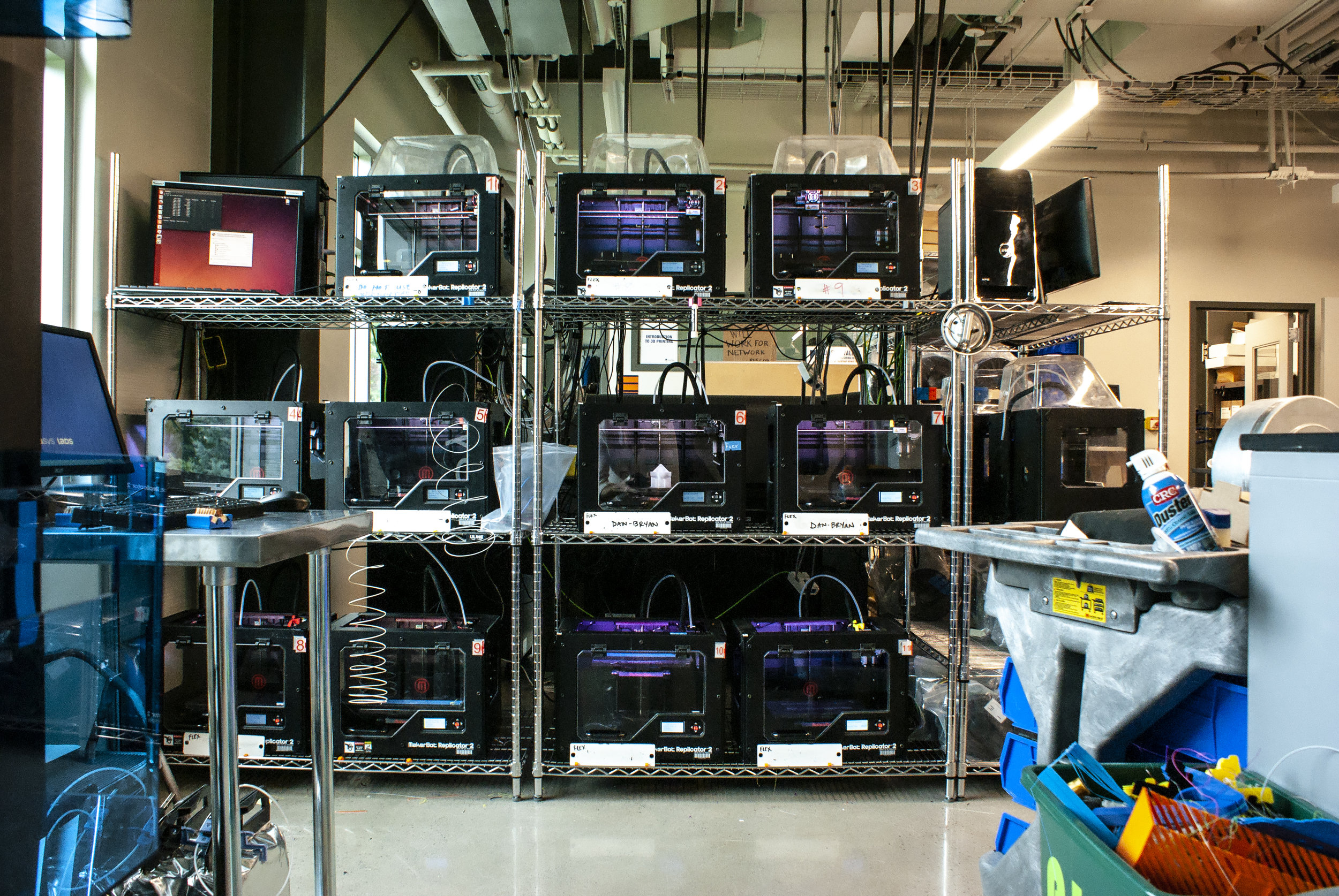 A Suite of MakerBot Replicator 3D Printers at SUNY New Paltz's Hudson Valley Advanced Manufacturing Center