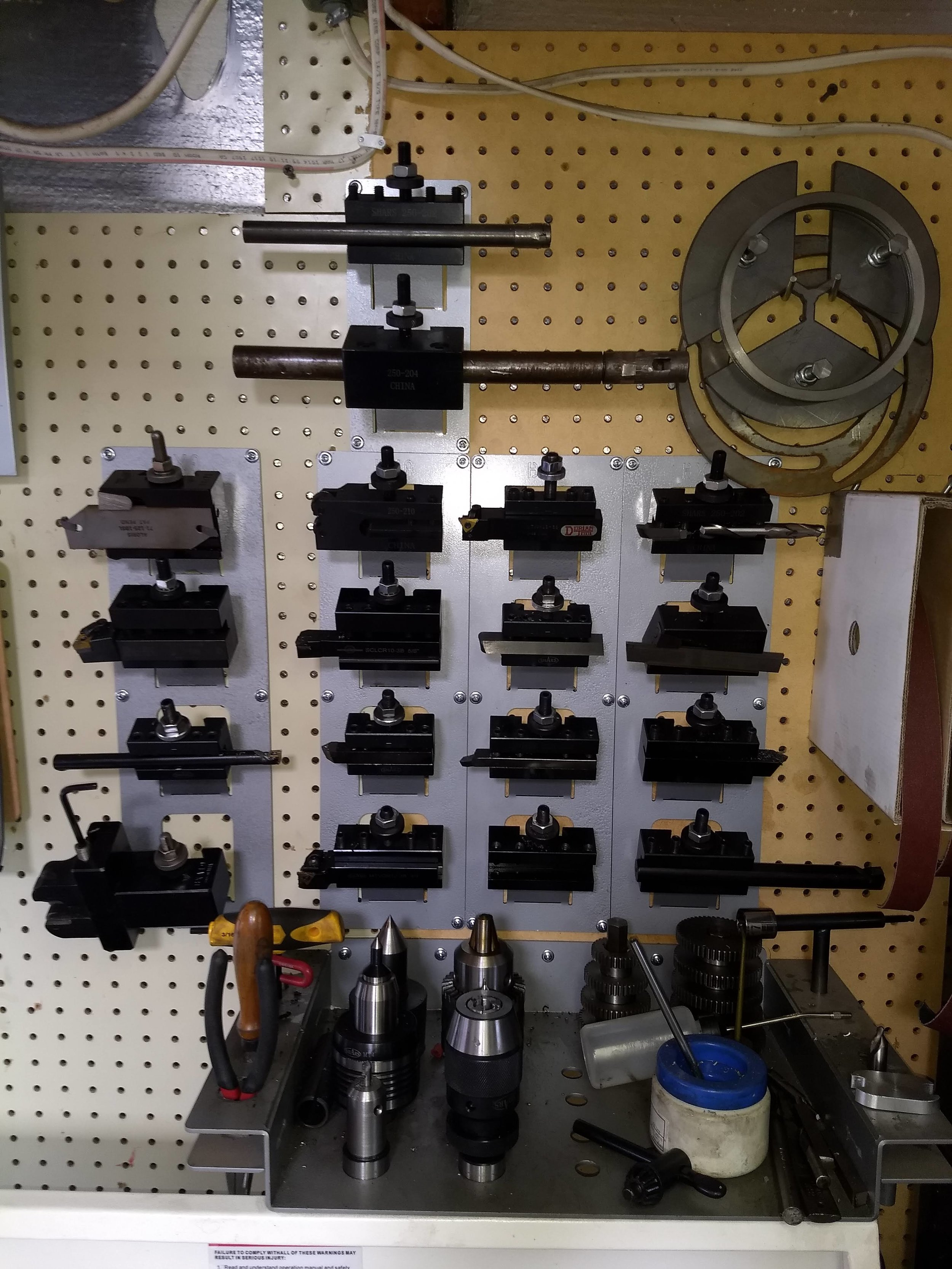 Tooling holders and storage