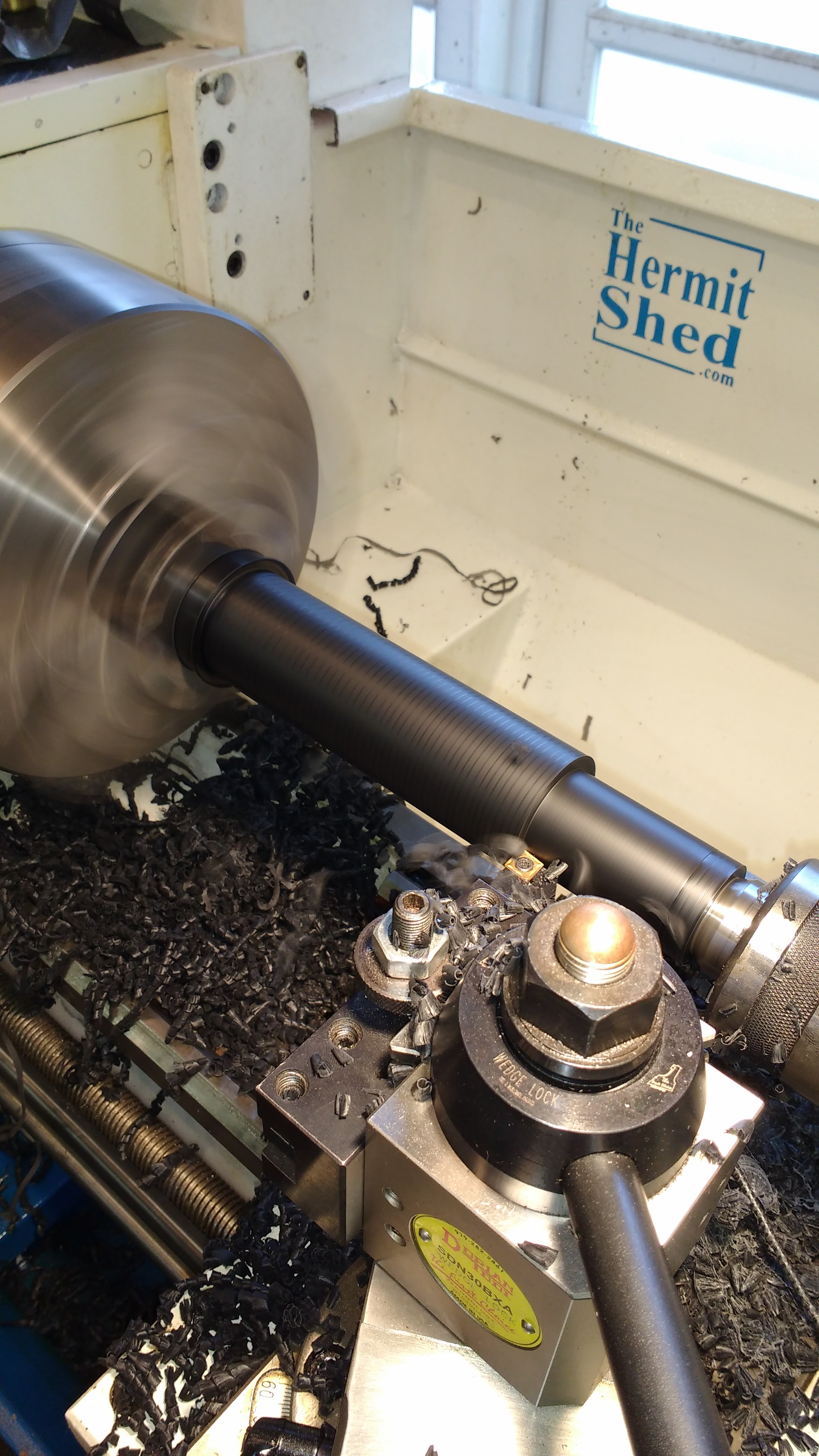 Turning some delrin