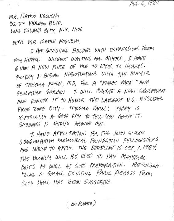 M.C.CAROLYN letter 08-06-84