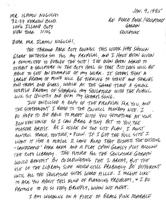 M.C.CAROLYN letter 01-09-85