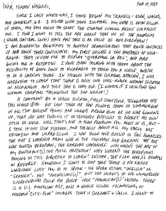 M.C.CAROLYN letter 02-10-87