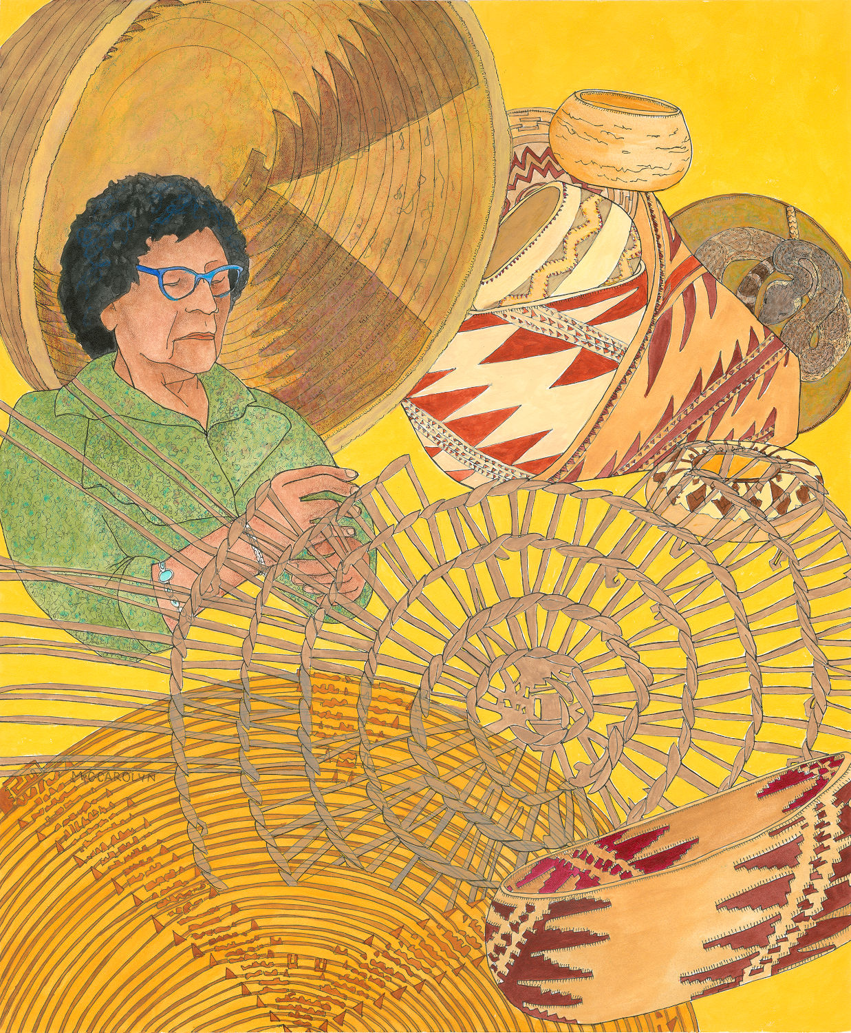 """Mabel McKay, Pomo Basket Maker"""