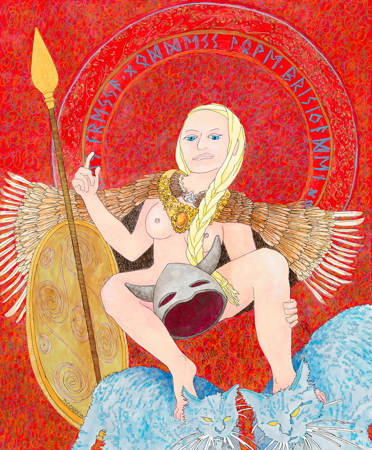 mccarolyn - masks of god-freyja norse goddess 8x600.jpg
