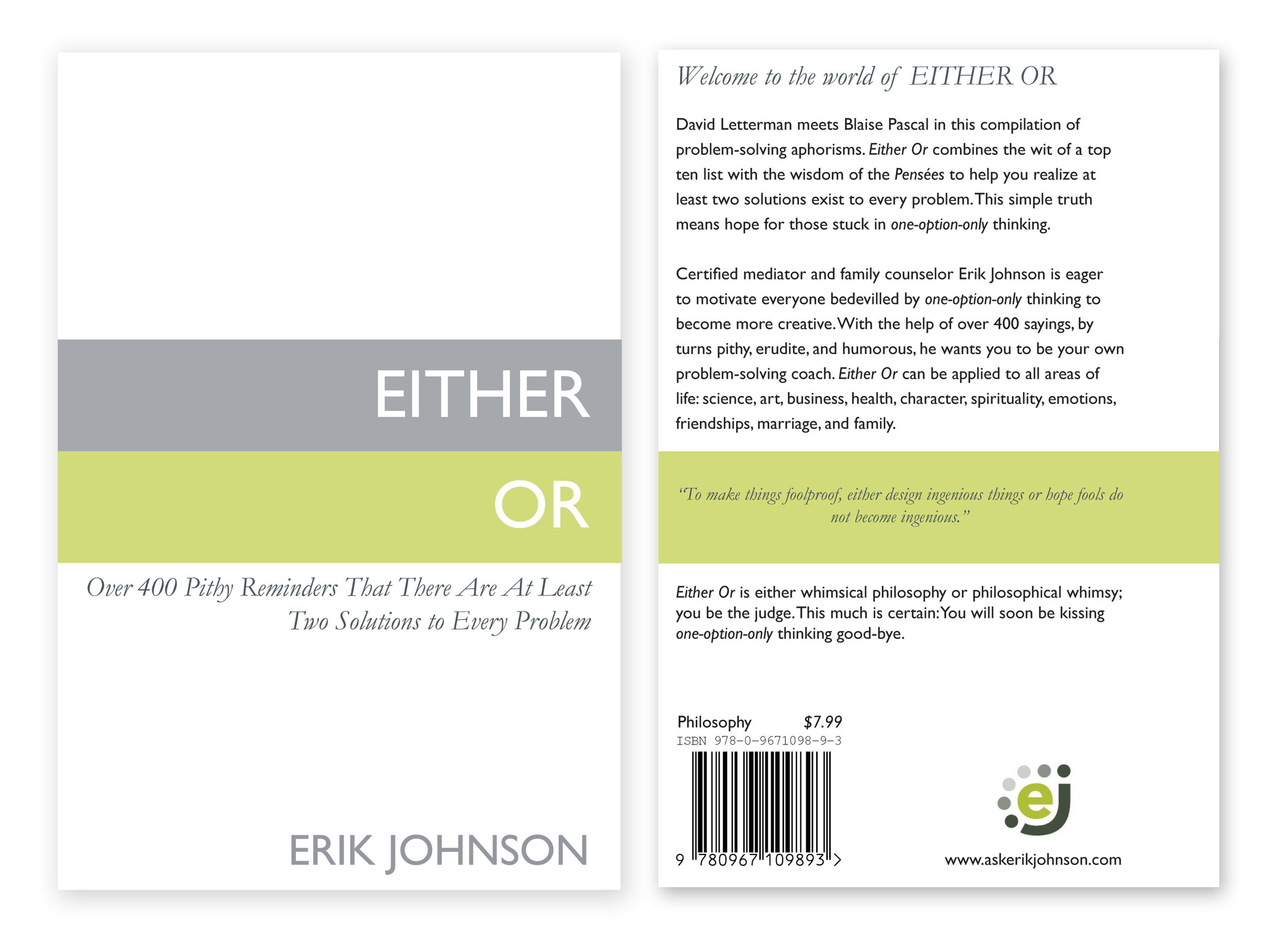 Book cover design 2011