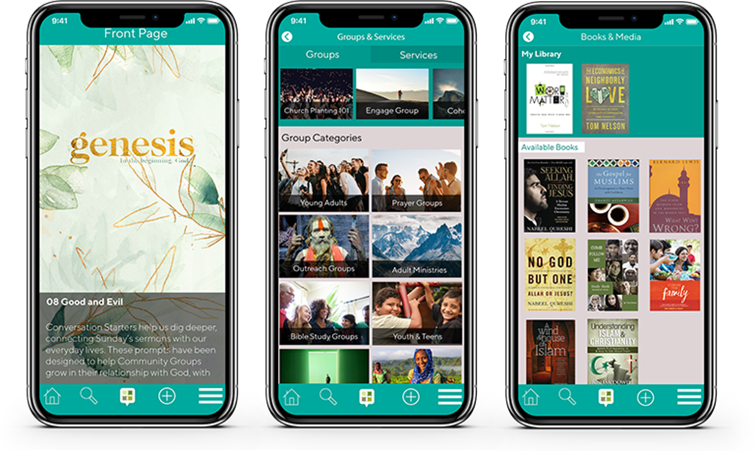 - FaithLink's flexible mobile framework can be accessed via mobile app, and desktop — meaning you and your congregants can enjoy all of the same features, no matter if you're at home or on the go.