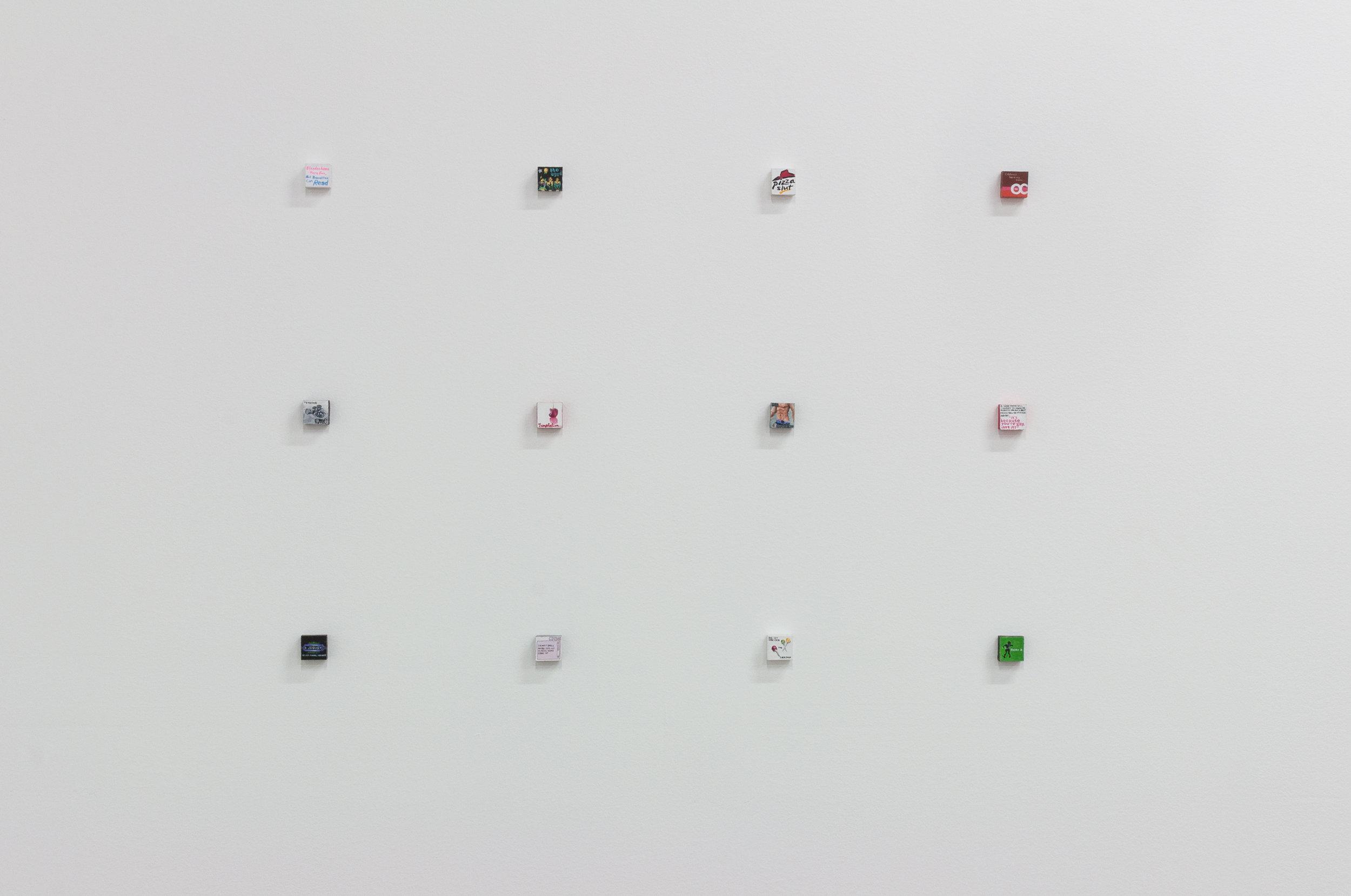 Casey Jargo,  Icons (1-12) , 2015, acrylic on wood