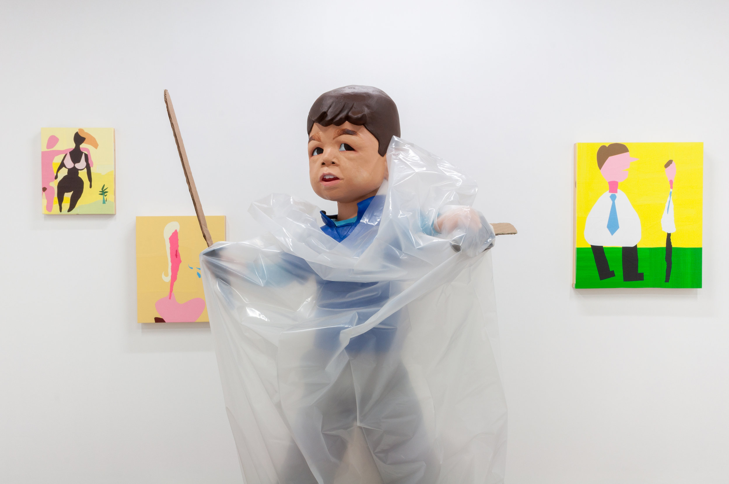 Carolina Maki Kitagawa,  when everything seems fine , 2016, ceramics, cardboard, plastic (detail)