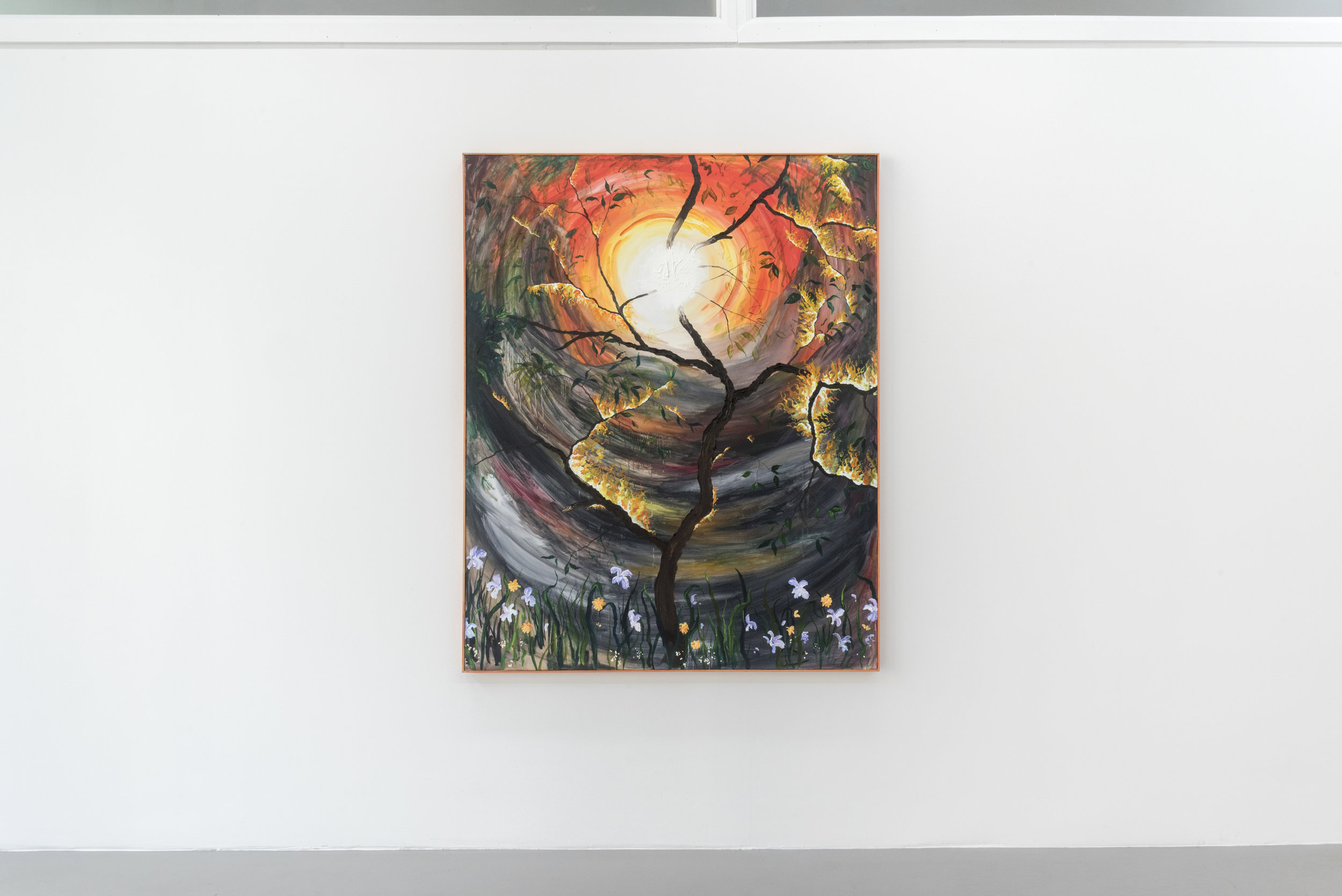 The Sun Hung Low #1,  2019 oil on canvas (in artist's frame) 60x48 inches