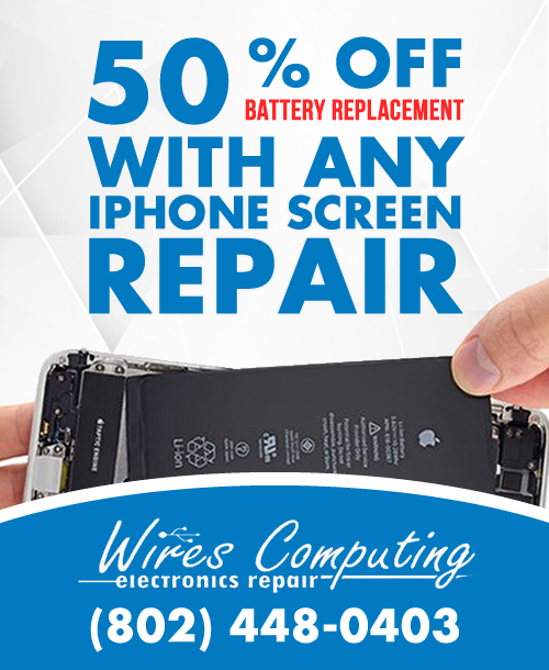 iphone battery replacement deal burlington vermont