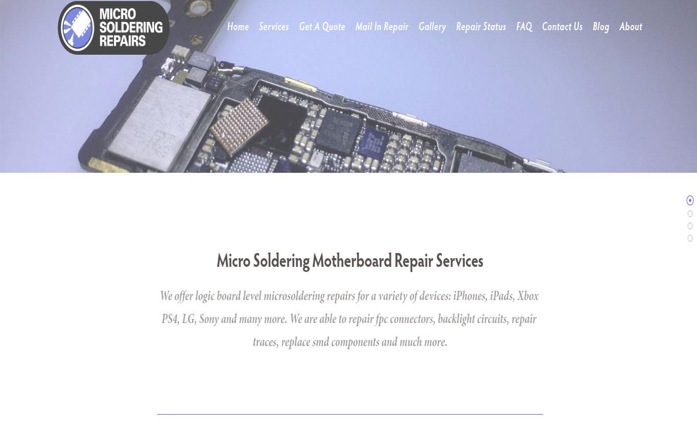Micro Soldering Repairs , our dedicated site to logic board repair services.