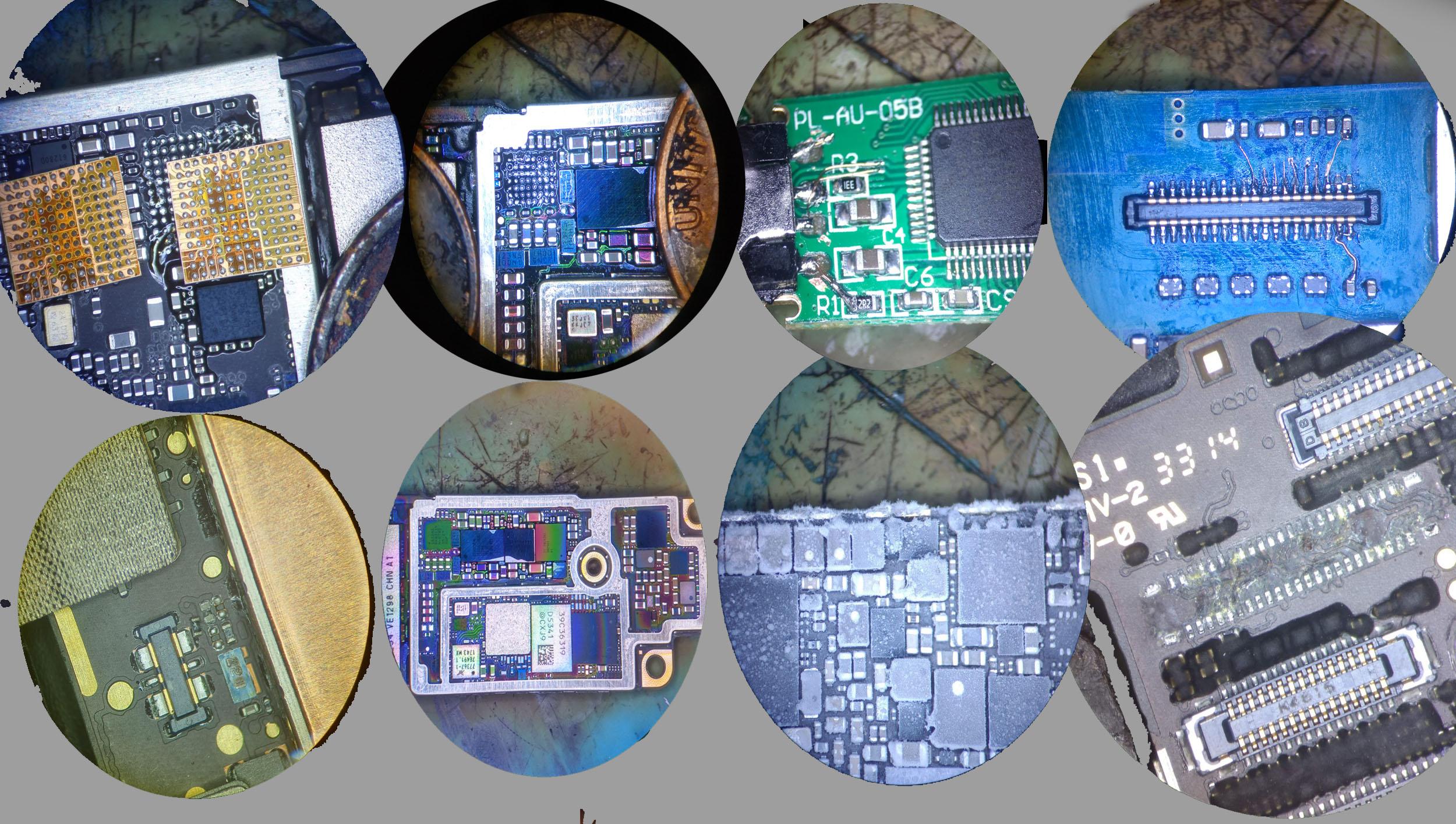 microsoldering repair images.