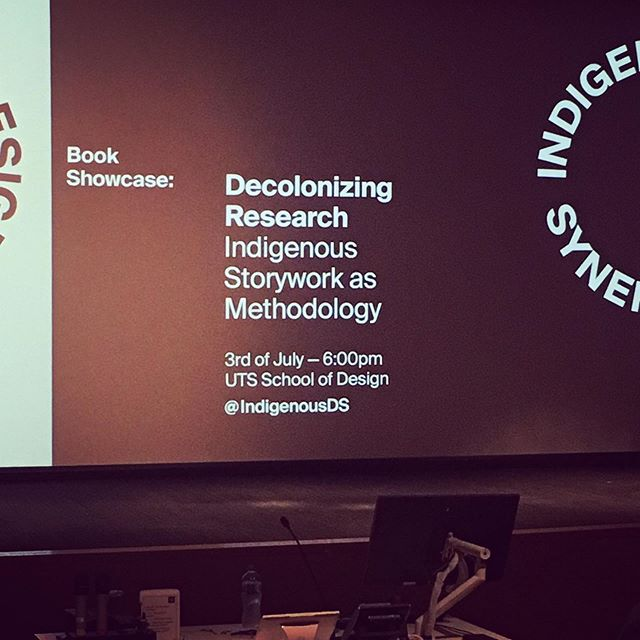 Such a great set of talks on decolonizing research and the importance of Indigenous Storywork from speakers across the Pacific. Inspirational, thought boundary pushing and realising how colonial Western research and enquiry methodologies are. Thanks to UTS School of Design and Jumbunna Research for putting it on. #Indigenous #Storywork #indigenousmethodologies #design #research #Decolonise #thinking #FirstNations #knowing #knowledge #inspirational #insta #instagram #instadaily