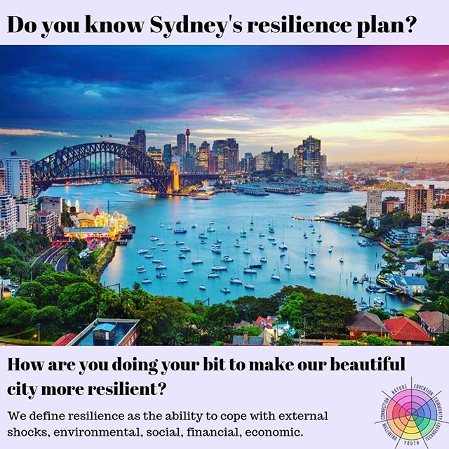 We work across the country with communities who are seeking to make their home more resilient. What about cities? We're based in the Hawkesbury, so Sydney is our home 🌿💦🚊🏘 #Sydney #resilience #community #strength #city #sustainable #cities #ourbeautifulsydney