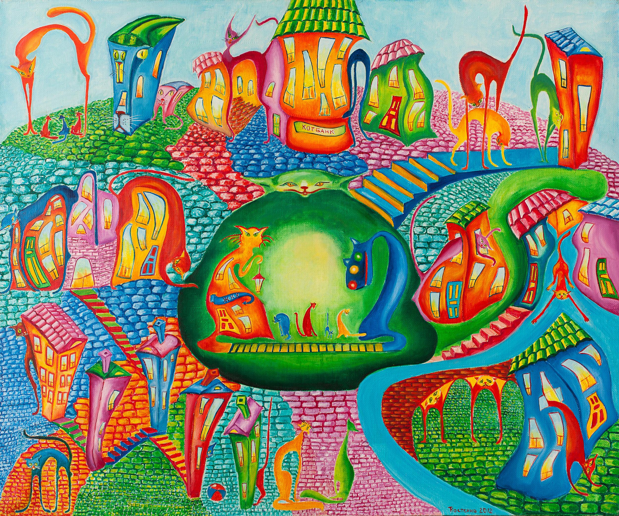 Kostenko - Planet-of-the-cats - 2012-canvas-oil-100х120 - inbook.jpg