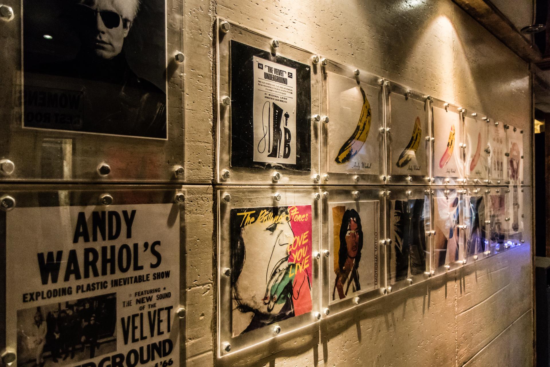 Hallway record covers