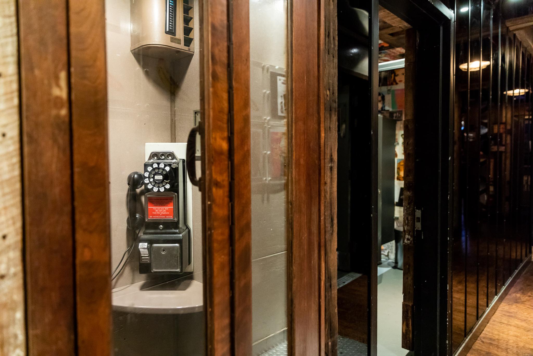 Vintage public telephone