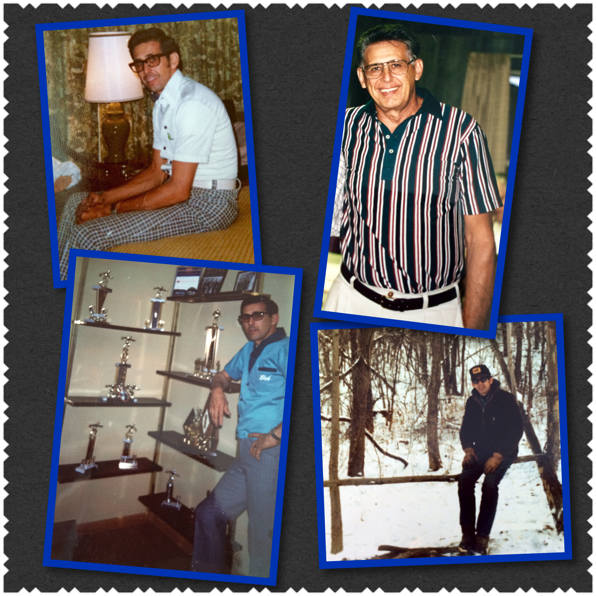 Ways I remember my Dad; yes, those are bowling trophies :o)