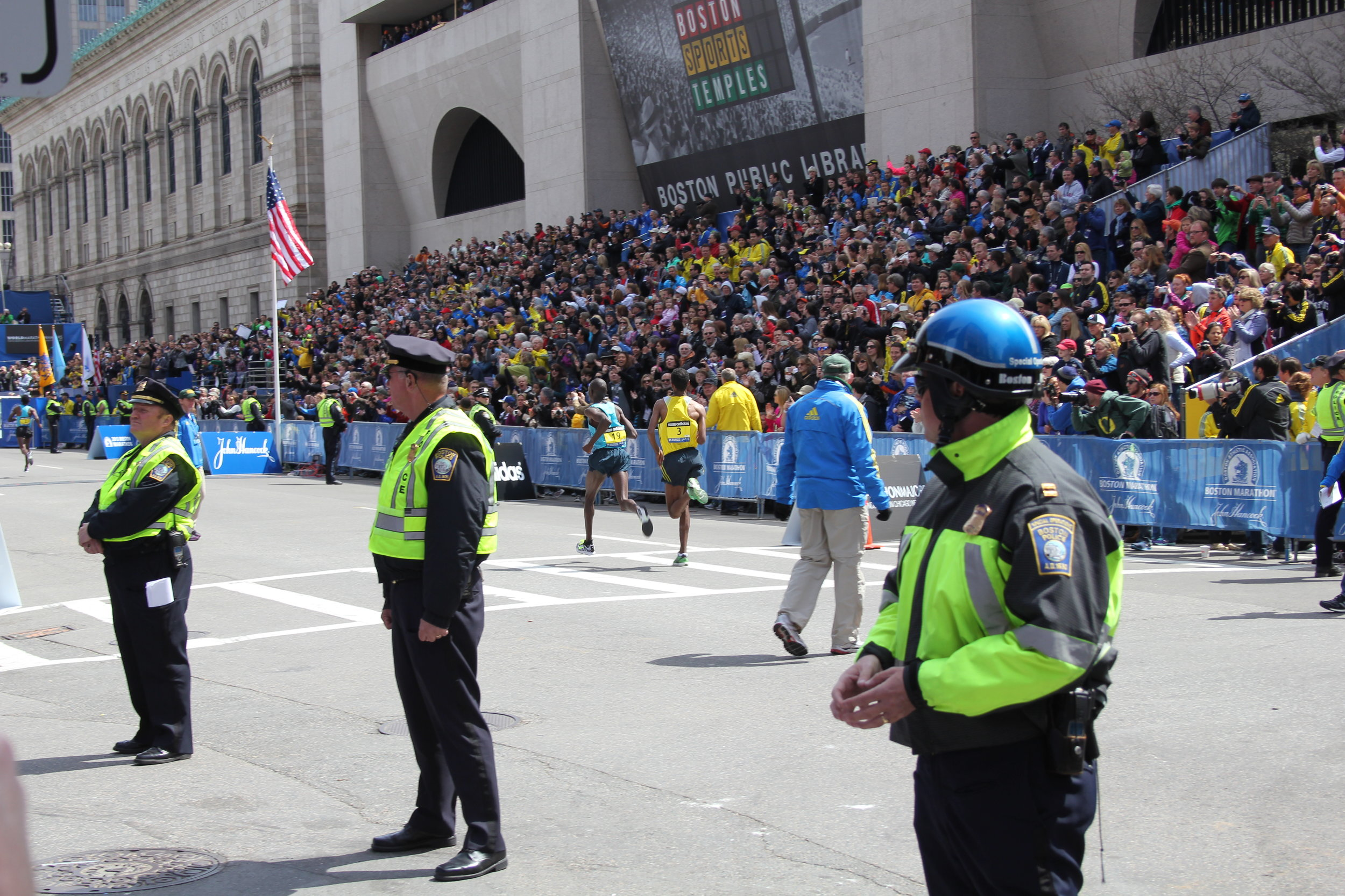 Boston's finest keeping us safe. Little did they know just how difficult their job would become that day