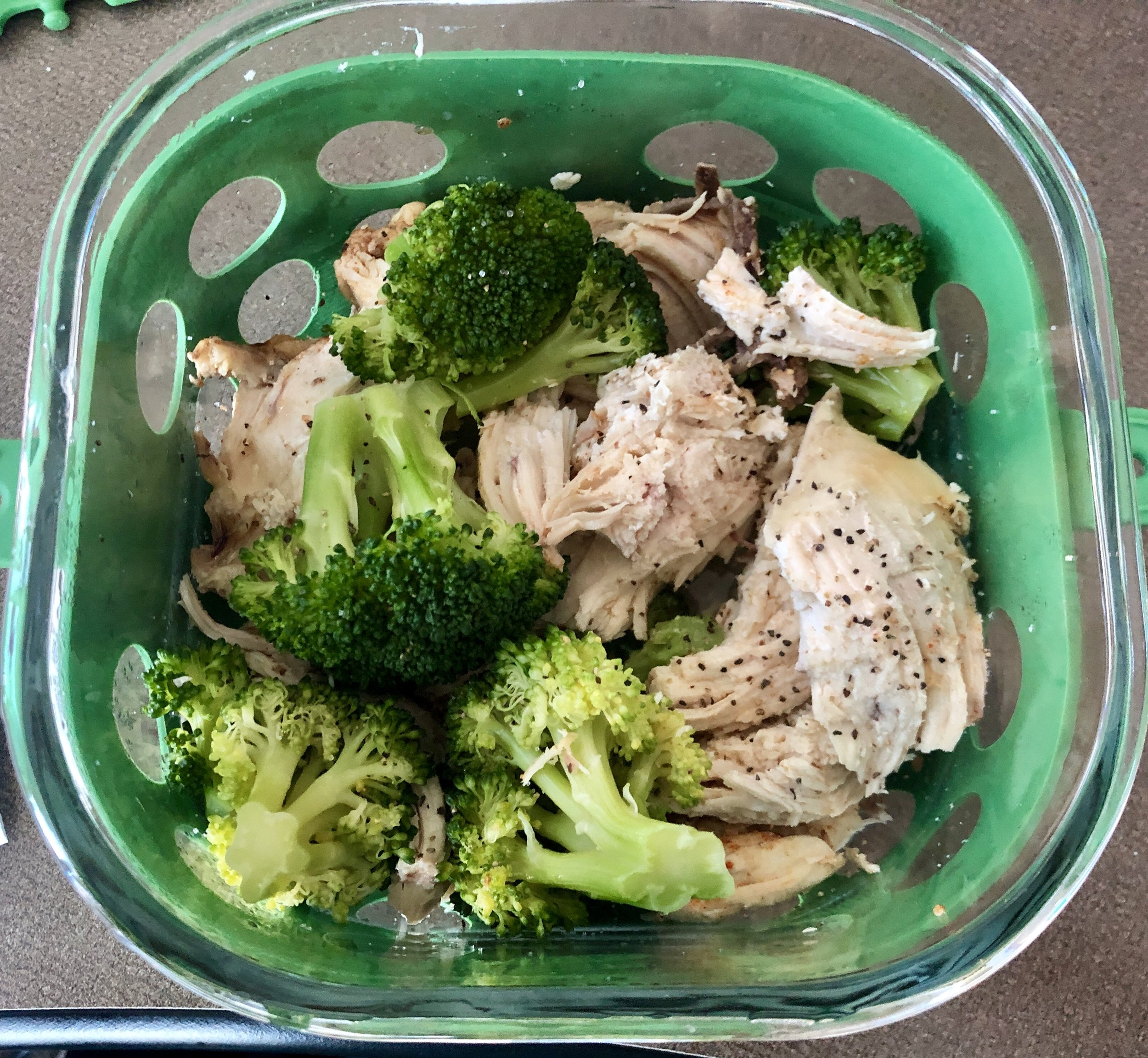Whole chicken in the Instant Pot makes the perfect work lunch prep. - Pair with your favorite organic steamed vegetable for a complete wholesome lunch.