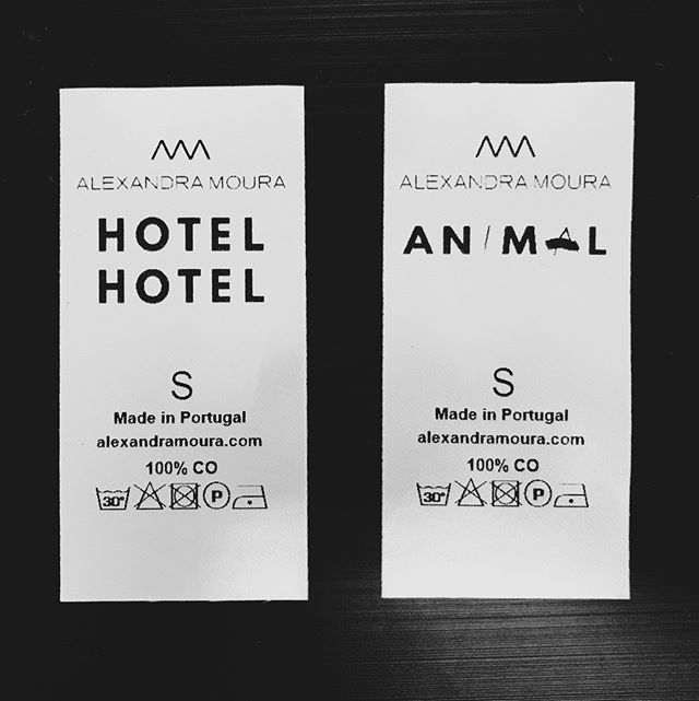 We know good things are coming when we see these tags.  Super uniforms designed by the wonderful @alexandra.moura  - Quando vemos estas etiquetas sabemos que algo de bom está quase a chegar. Os nossos uniformes desenhados pela fantástica Alexandra Moura #hotelhotel #welcominginstinct 