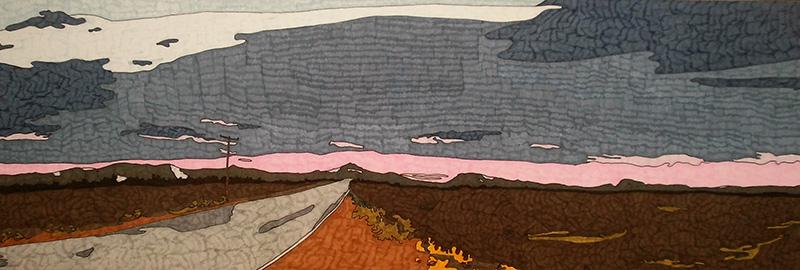 Route , 20/60cm, feutres sur papier