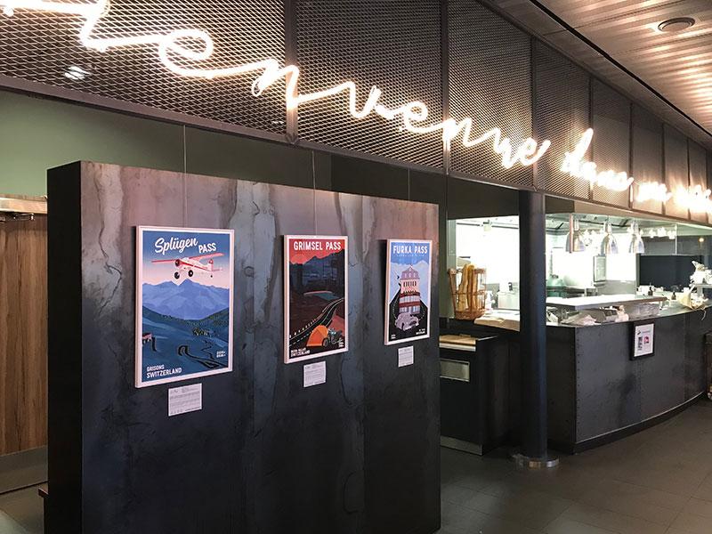 Wheel of Cheese, exposition au rerstaurant Le Chef de l'Aéroport de Genève.