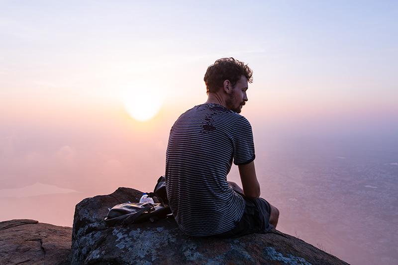 ... et en Inde, au sommet de l'Arunachala.