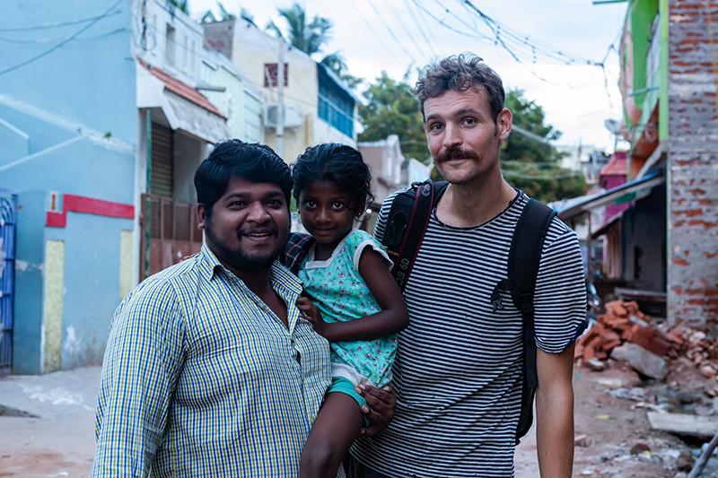 Rencontre dans les rues de Rameswaram.