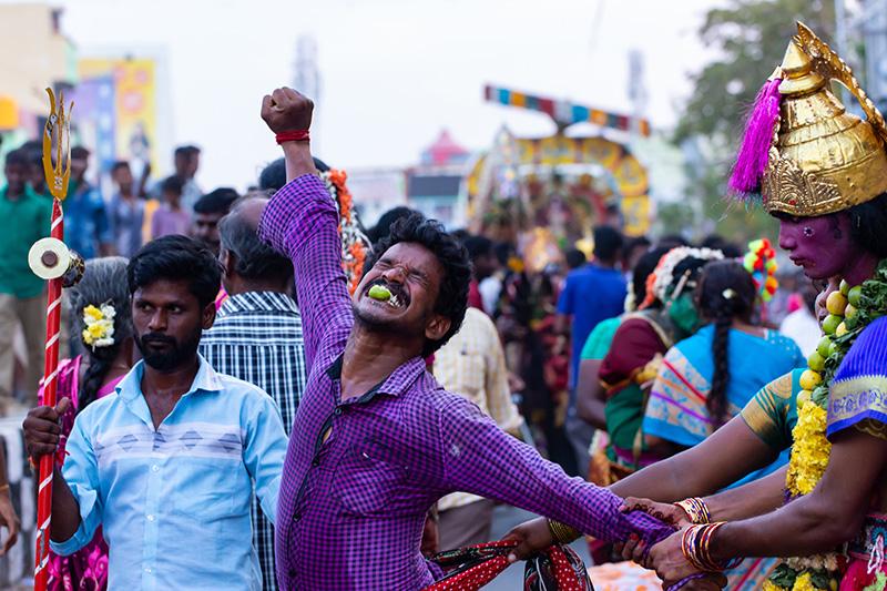 Célébration à Tiruvannamalai.