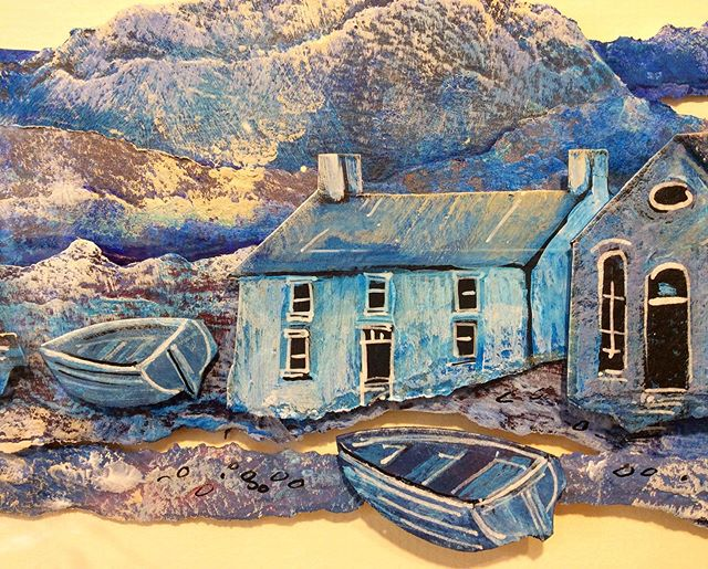 Full Moon Over The Quay. Original construction by Anthony Evans. . Traditional Welsh landscape evoking memories, dreams and emotions...