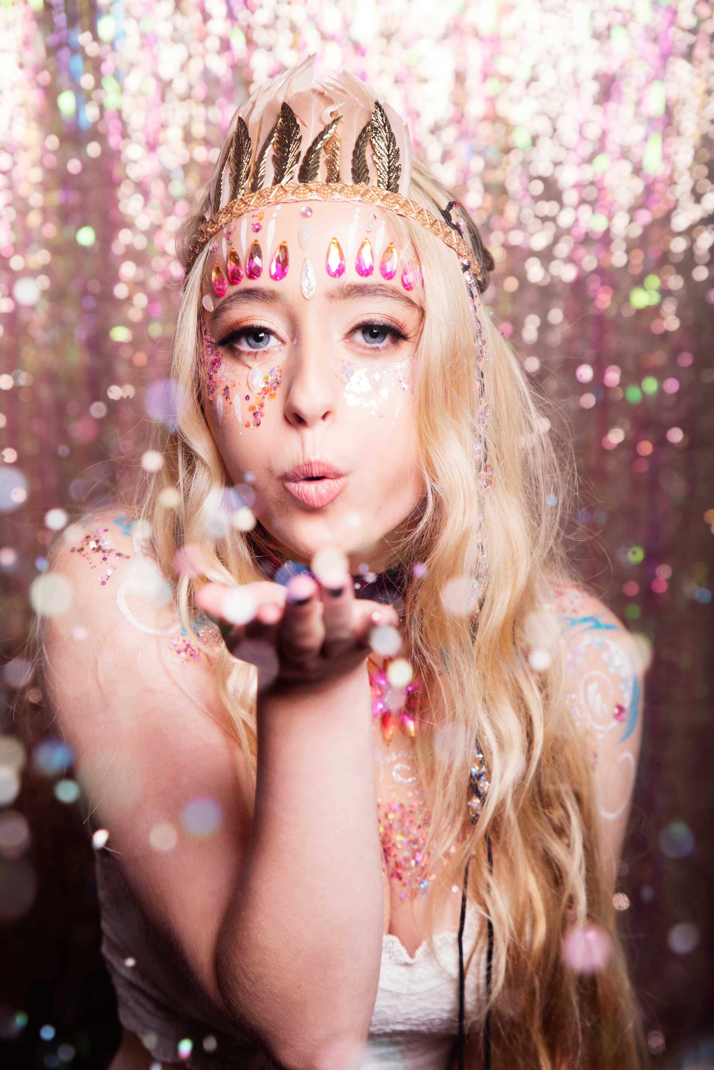 THE LOVEMOI GLITTER BAR - Have our talented Glitter Team set up at your wedding, festival, hen do, ball or corporate event where we'll glitter everyone who comes our way!Talk to us about our custom packages, designed to fit in with the theme of your event.