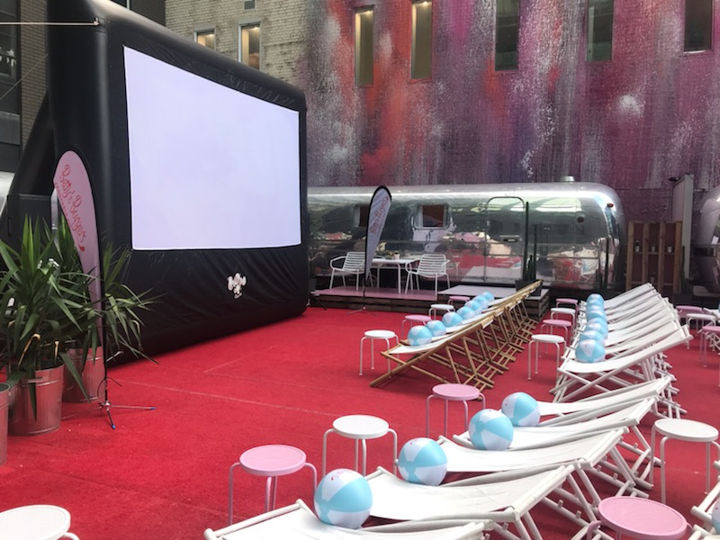 Rooftop Cinema - With multiple screens and a big imagination, we can go almost anywhere with our cinema systems - including this Melbourne rooftop surrounded by beautiful winnebagos for the BONDS brand. I just wish I could have stayed overnight….