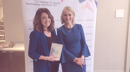 CJC'S CRISTINA MURES SCOOPS CONSULTANT OF THE YEAR AWARD! - Recognition for Cristina at the Waters Technology Women in Technology and Data Awards.12.03.18