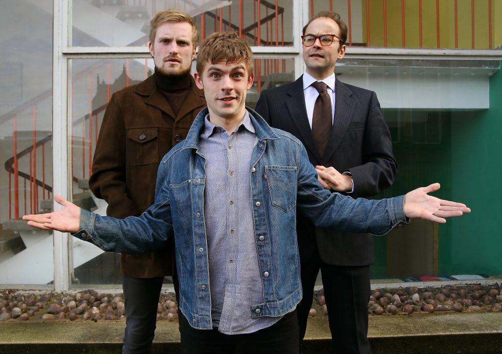 DEAN GREGORY AS KEN PILLING, JOSEPH CARTER AS RAY GOSLING AND MICHAEL JUSTICE AS ALLAN HORSFALL (LEFT TO RIGHT) (PHOTO SHAY ROWAN)